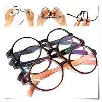 New Light Flexible Frame Large Round Reading Glasses All Strength Free Hard Case
