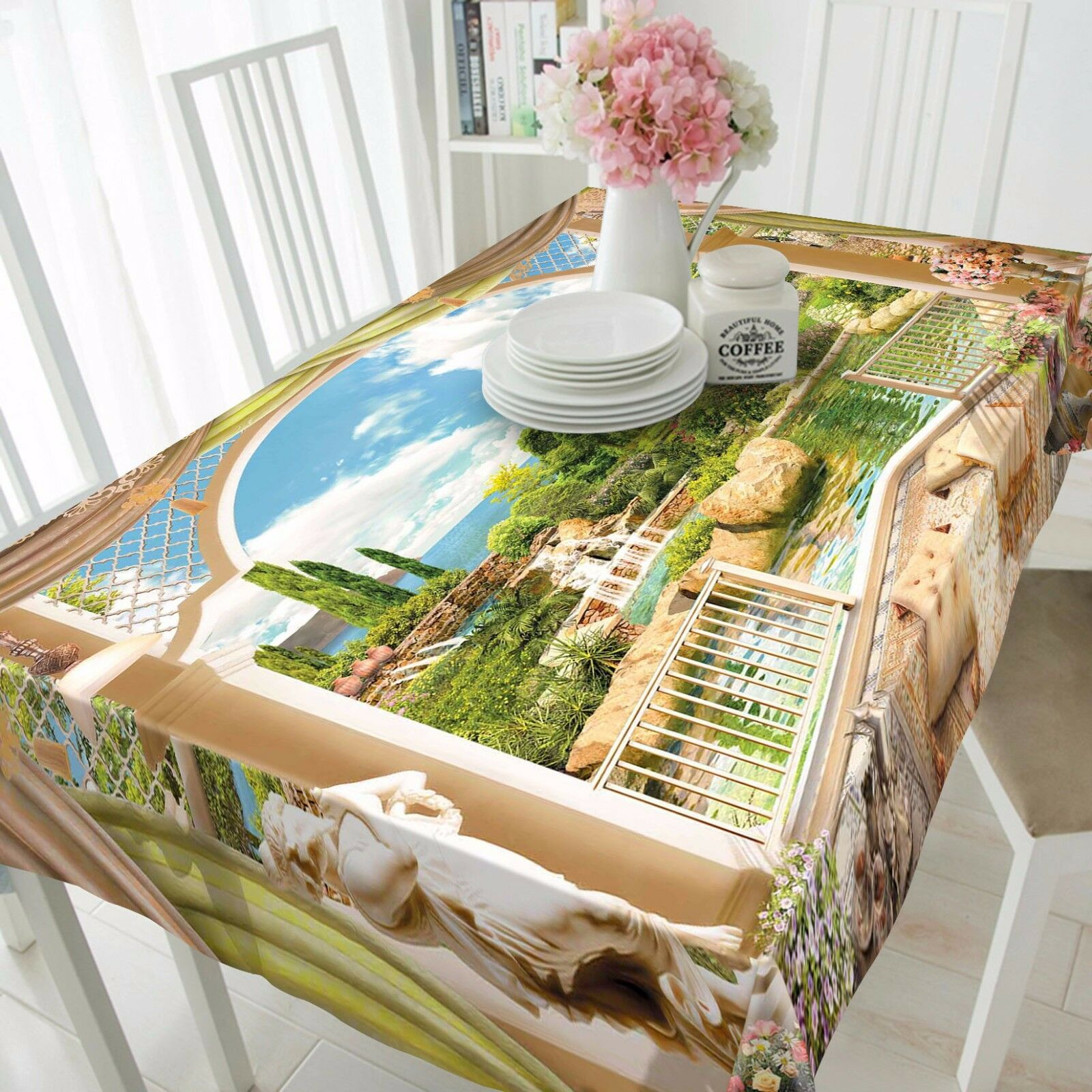 3D Park Lake Nappe Table Cover Cloth fête d'anniversaire AJ papier peint Royaume-Uni Citron