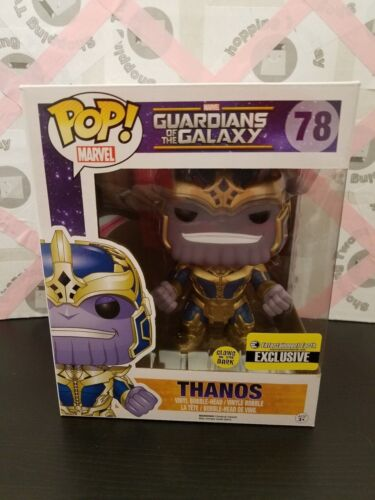 FUNKO POP GUARDIANS OF THE GALAXY THANOS GLOW-IN-THE-DARK 6-INCH #78 POP COVER