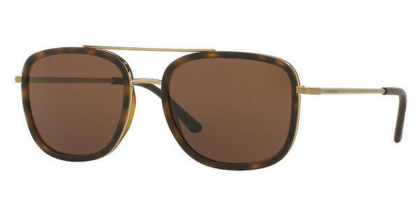 8c21ec0cb24 Burberry Brushed Light Gold Square Mens Sunglasses - Be3085q11675w for sale  online