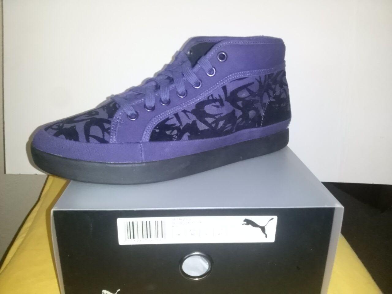 Puma alexander mcqueen Step mid Flock 42 cortos zapatos color Blue 357162 03