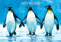 3 Penguins Box Of 18 Christmas Cards By Designer Greetings