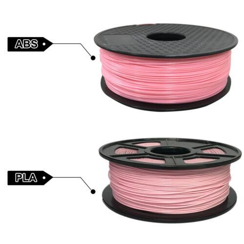 Premium 3D Printer Filament 1kg//2.2lb 1.75mm 3mm PLA ABS Non-toxic eco-friendly