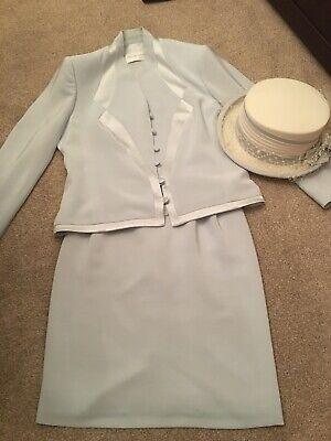 Accurato Tom Bowker Sorprendente Blu Pallido Madre Della Sposa Outfit Taglia 14-