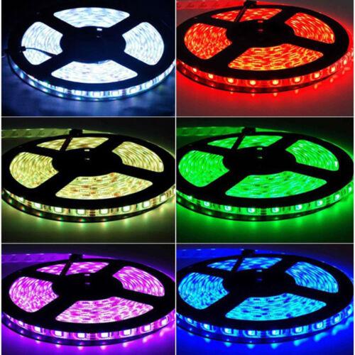 5M 5050 5630 3528 SMD 300 LED Strip Light 12V Waterproof IP20 or IP65 White RGB