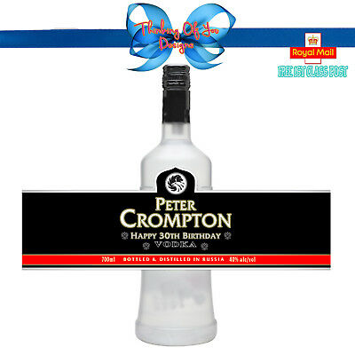 PERSONALISED RUSSIAN VODKA  BOTTLE LABEL BIRTHDAY ANY OCCASION GIFT