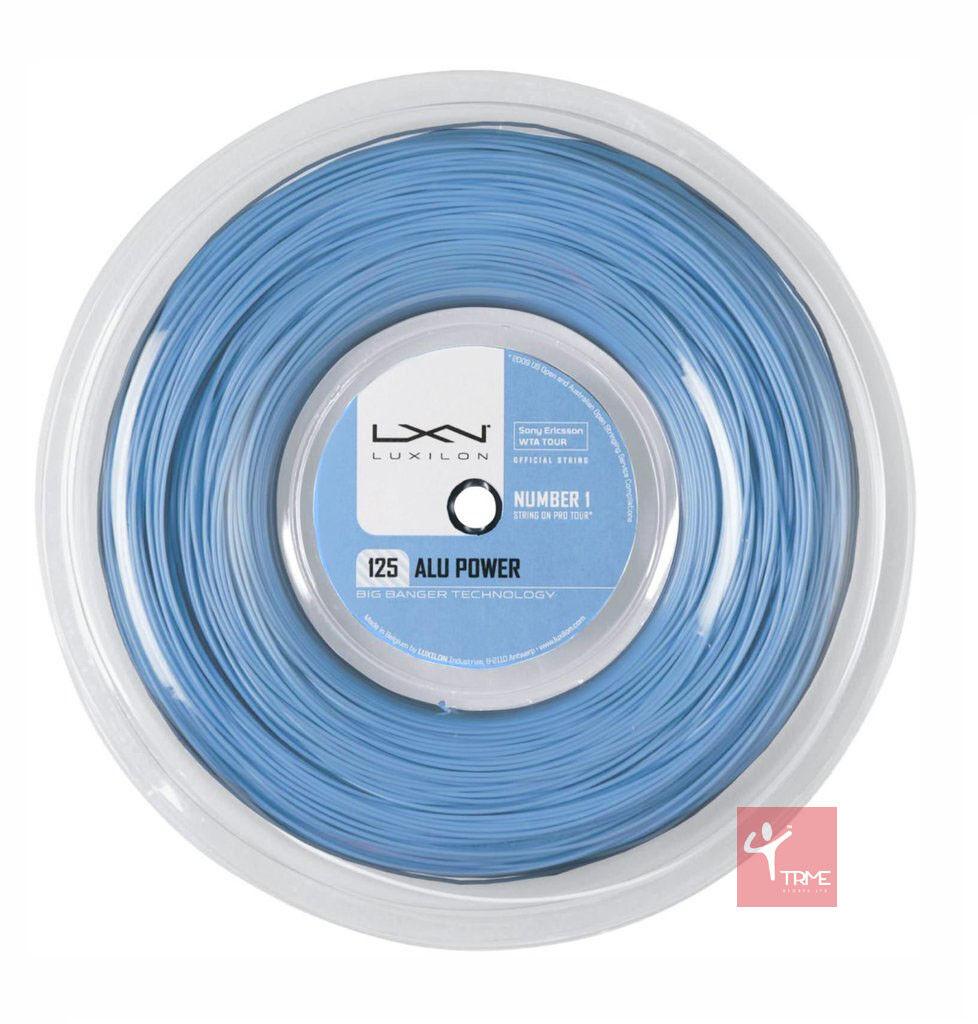 Luxilon Big Banger Alu Power 125 Tennis String 220m Reel - Ice bluee