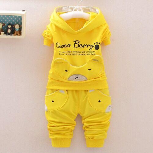Baby Boy Clothes Cartoon Tops T-shirt Long Sleeve+Pants Casual 2pcs Outfits Set