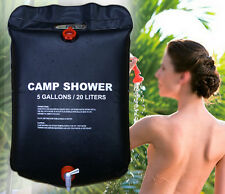 Portable 20l Solar Camping Shower Outdoor Hiking Heated Bathing Water Bag Clean