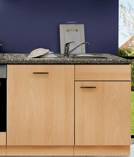 Spülzentrum avec APL//installation évier robinet MANKAPORTABLE hêtre rinçage sous placard