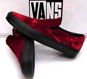 1db8615eac0d Vans Classic Slip-On (Velvet) Oxblood Black  VN-0A38F7NQB Women s ...