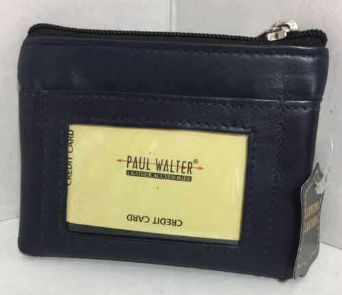 Women//Men navy blue Key//coin purse wallet card holder Pocket wallet Id card New