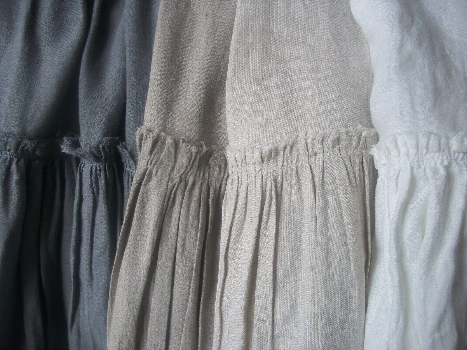 Pure Luxury Belgian Linen Cotton Curtain Drape Panel Panel Panel Ruffle Pleat Hem 96