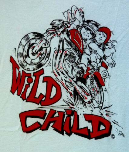 Wild child-biker slogan layette bébé motard babygrow bleu-clearance