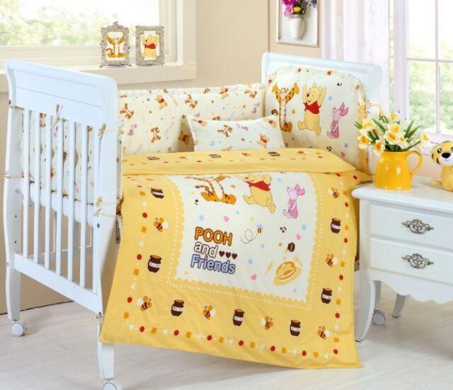 Baby Bedding Crib Cot Sets - Winnie the Pooh Theme. Brand New Design (9-Piece)