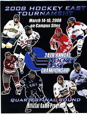 HOCKEY EAST 2008 TOURNAMENT QUARTERFINAL PROGRAM College Mint NH MA ME RI VT