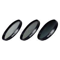 Vivitar 82mm UV CPL ND8 3 Piece Multi Coated Filter Kit Series 1 Optics