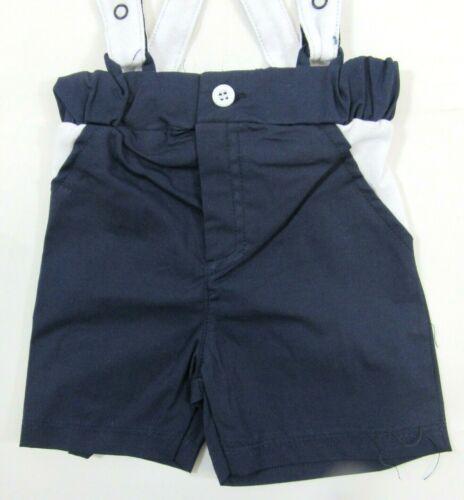 Bébé Garçons Bleu Marine à Rayures Marin Top T Shirt Dungarees Summer 2 PC Set 3 24 27 51