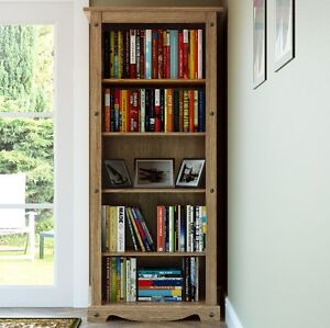 Image Is Loading Tall Corner Bookcase Large Display Unit Wooden Book