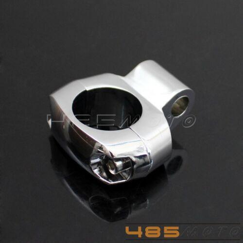 "1 pcs Stainless Mirror Mounting Bracket Holder Clamp Chrome Universal For 1"" Bar"