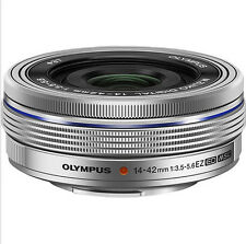 OLYMPUS M ZUIKO 14-42mm f3.5-5.6 EZ Lens Silver + LC-37C Auto Cover (White Box)