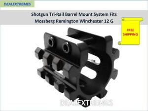 Shotgun-Tri-Rail-Barrel-Mount-System-Fits-Mossberg-Remington-Winchester-12-G