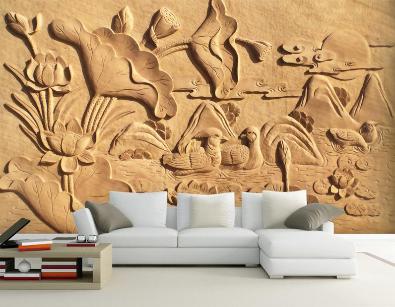 3D Nostalgischer Lotusteich 74 Tapete Tapete Tapete Wandgemälde Tapete Tapeten Bild Familie DE | Online Kaufen  | Haltbarkeit  | Sehen Sie die Welt aus der Perspektive des Kindes  d66863