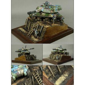 1-35-Diorama-Militare-Piattaforma-Set-Di-Trincee-Modello-Di-Edificio-Kit-Scena