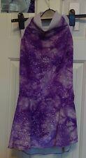Ice Figure Skating Dress sleeveless Purple and White velour tie dye Girl 10 12