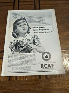 Vintage-Newspaper-Revue-Populaire-1942-Advertising-RCAF-Seagram-Pyrex-GM-14x10-034