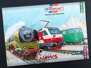 """Enthousiaste Roco Modèle Chemins De Fer Catalogue """"news 97"""", Din A4, 32 Pages, Neuf!-nen Katalog """"news 97"""", Din A4, 32 Seiten, Neu! Fr-fr Afficher Le Titre D'origine"""