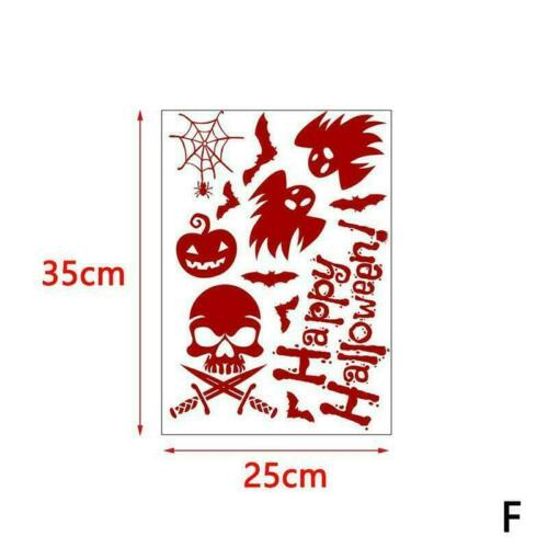Halloween Decorations Window Bloody Handprint Footprint neu Stickers Decals X7I9