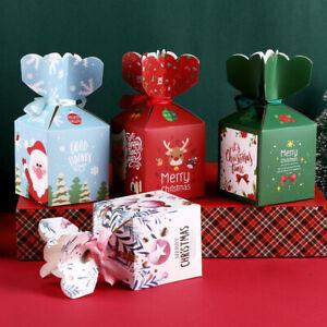 Christmas-Candy-Box-Bag-Caja-de-arbol-Navidad-con-campanas-Bolsa-de-papel-Moda