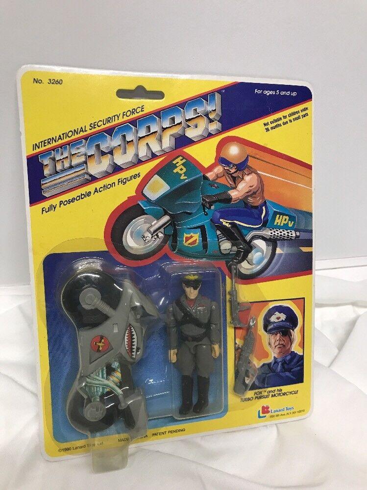 Lanard giocattoli The Corps Fox e His Turbo Pursuit Motorcycle nuovo 3.75