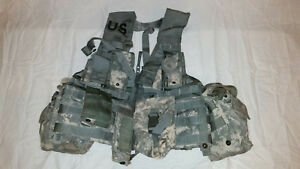 LIGHTWEIGHT-MOLLE-II-ACU-FLC-ADJUSTABLE-FIGHTING-LOAD-CARRIER-W-POUCHES-JJ-1021