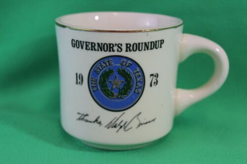 1973 State of Texas Governor's Roundup Dolph Briscoe Coffee Cup Mug