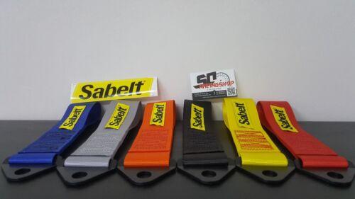 SABELT GANCIO TRAINO RACING TUNING STOFFA LACCIO RENAULT CLIO RS TOW STRAP