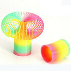 2PCS  Kid Magic Plastic Slinky Rainbow Spring Colorful Children Educate Toy