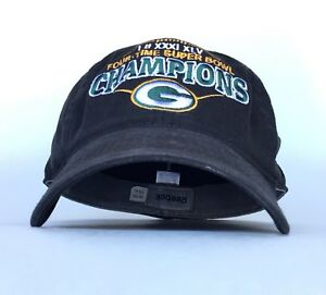 NFL Green Bay Packers Four Time Super Bowl Champions Reebok Ball Cap ... fe698d802
