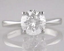 Diamond Ring D IF Certified 1.50ct Brilliant Cut Platinum Solitaire Engagement