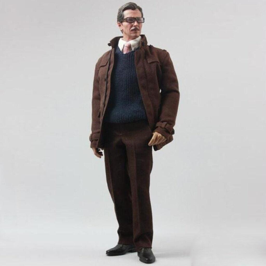 1 6 Para uomo Abrigo Camiseta Pantalón Conjuntos Set para 12  Jim Gordon Figura Hot Toys