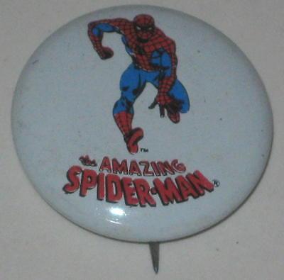 """1970's Spiderman Tin Litho Pin 3/4"""" #2"""