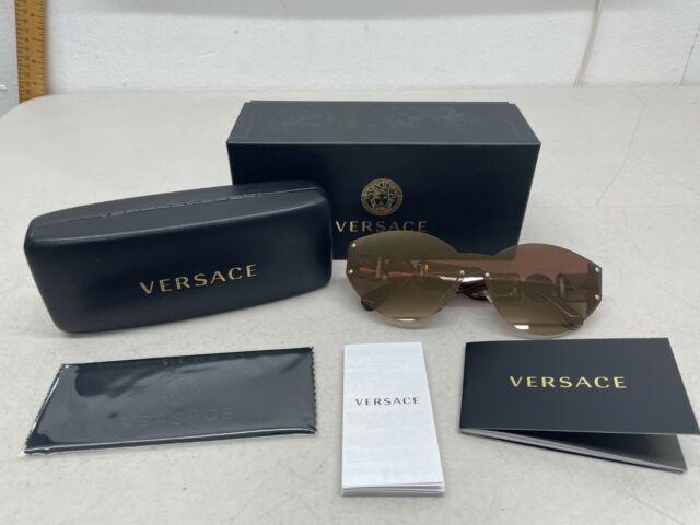 Versace 2224 5340/6K Gold Shield Sunglasses