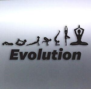 Evolution Of Yoga Vinyl Cut Sticker Australian Made Positions - Custom vinyl cut stickers australia
