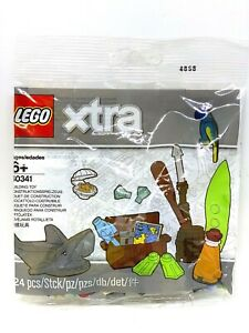 LEGO-40341-Xtra-Accessories-Fish-Shark-Parrot-Surfing-Oyster-AFOL