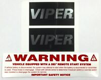 Viper Car Alarm Window Decals Security Stickers ++ Remote Start Emblem Authentic