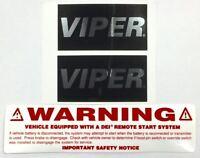 Viper Car Alarm Window Decals Security Stickers ++ Remote Start Emblem Authentic