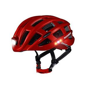 RockBros-Cycling-Ultralight-Bike-Helmet-USB-Recharge-Light-Size-57-62cm-Red