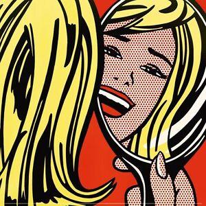 POP-ART-PRINT-Girl-in-Mirror-1963-by-Roy-Lichtenstein-12x12-Poster