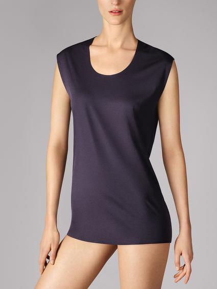 NIB NEW Wolford schwarz Seamless Pure Plus T Shirt Top Medium  59910
